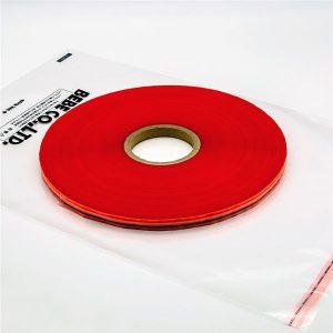 Uzatváracia plastová taška tesniace pásky