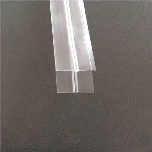 Priehľadný plastový zips